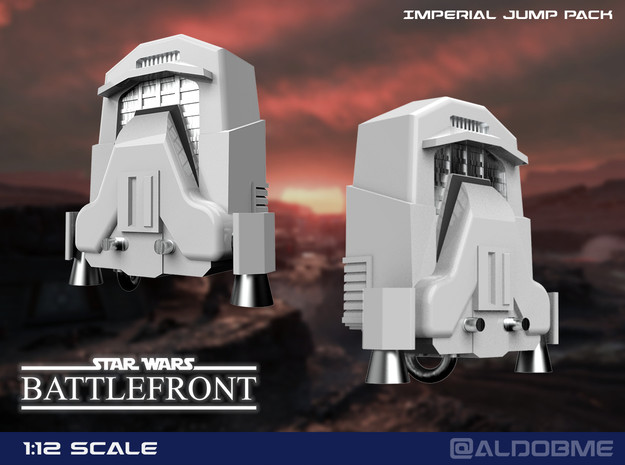 Jump Pack (Imperial) in Smooth Fine Detail Plastic