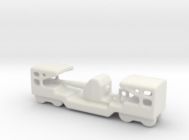 ta 152 40 1/160 Italian railway artillery in White Natural Versatile Plastic