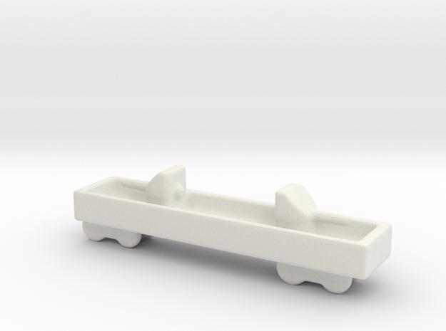 ta 120 40 1/144 Italian railway artillery in White Natural Versatile Plastic