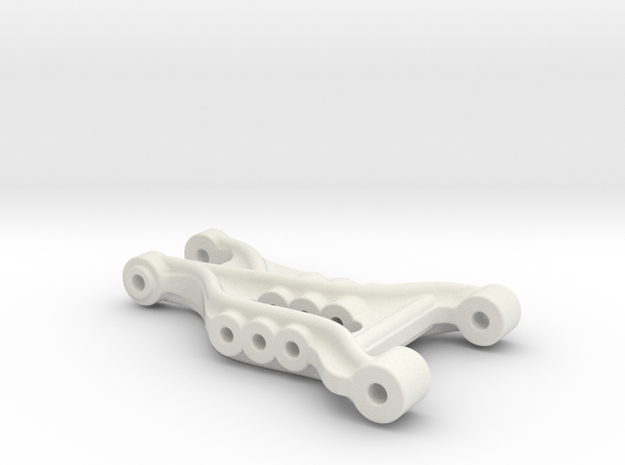 B2 Dyna Storm front suspension arm  in White Natural Versatile Plastic