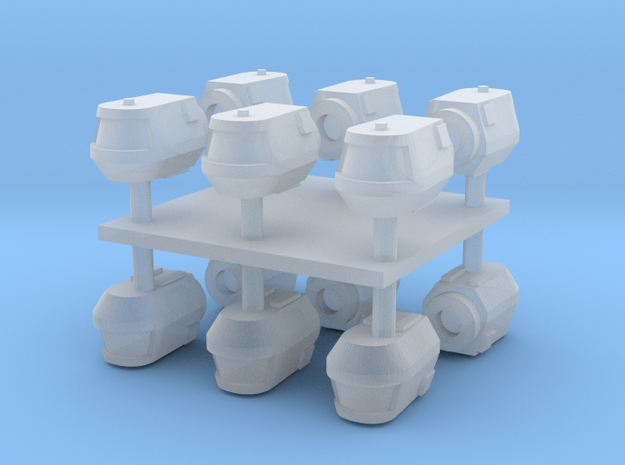 1/1000 TMP Travel Pod 12 pack in Smooth Fine Detail Plastic