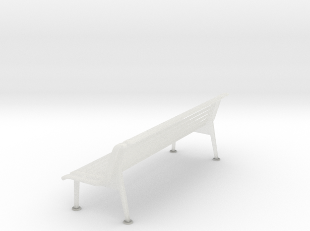 RhB Bench With Backrest  in Frosted Ultra Detail