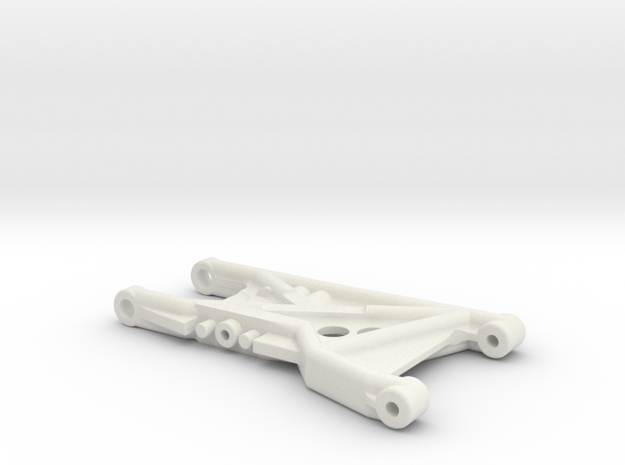 B4 Dyna Blaster / TR15T rear suspension arm in White Natural Versatile Plastic