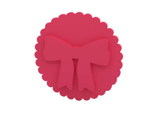 Cookie stamp / Stamp in Pink Processed Versatile Plastic