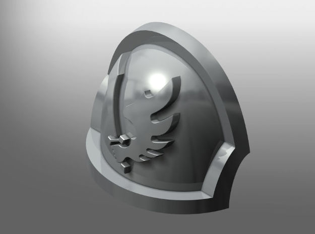 Ravenous ptrn Shoulder Pads: Angels of the Crow in Smooth Fine Detail Plastic: Small