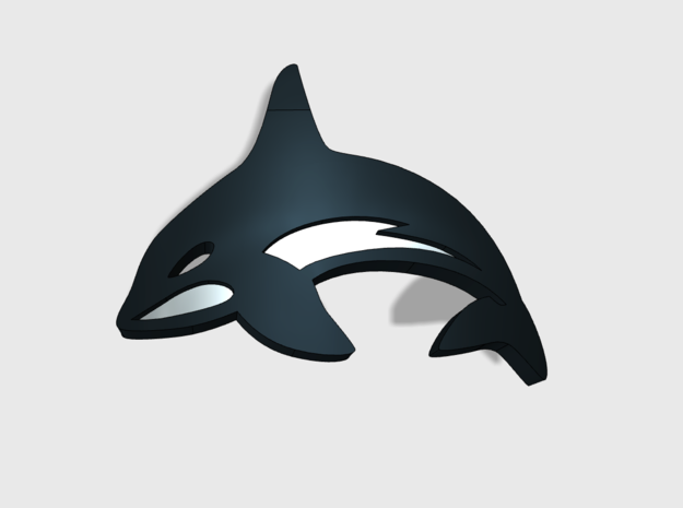60x Killer Whales - Shoulder Insignia pack in Smooth Fine Detail Plastic