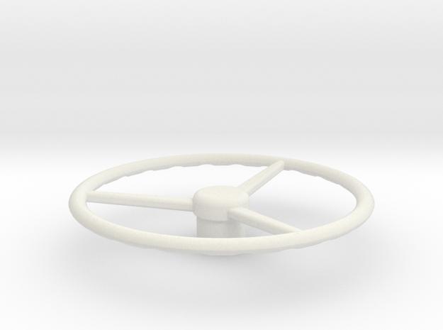 Old School Steering wheel 1/14 in White Natural Versatile Plastic