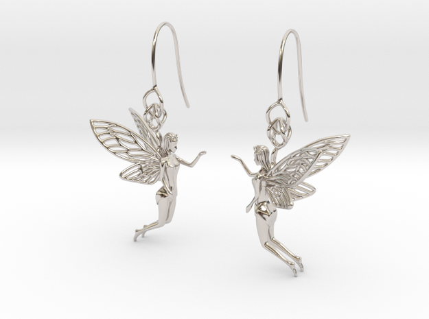 Pixie Dust Earring in Rhodium Plated Brass