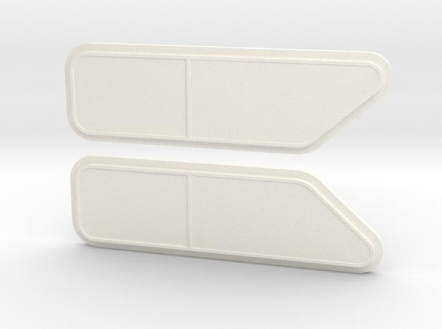 KW Bunk Cap for stock cab, side windows in White Processed Versatile Plastic