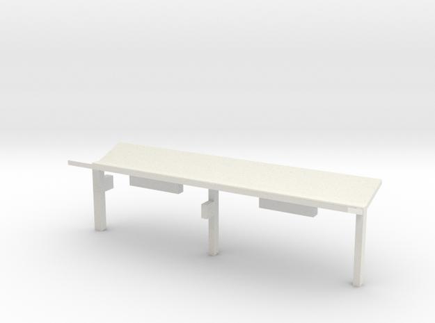 N Gauge Platform Canopy in White Natural Versatile Plastic