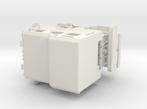 1/64 E-One Typhoon Rasied Roof Cab in White Natural Versatile Plastic
