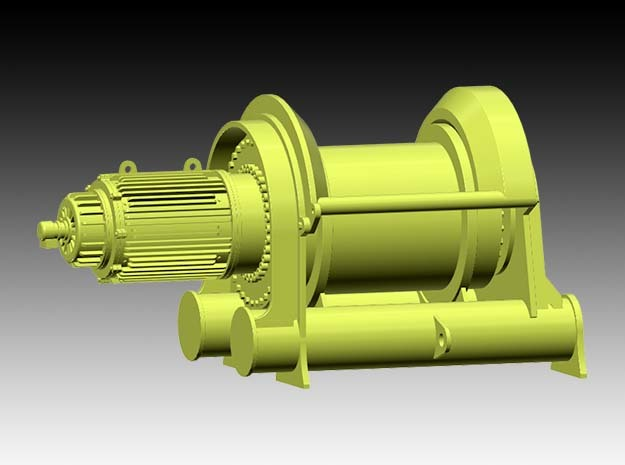 Tugger winch Bokalift 1 - 1:50 in Smooth Fine Detail Plastic