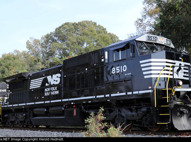 N Scale Norfolk Southern Dash 8.5-40CW Cab in Smoothest Fine Detail Plastic