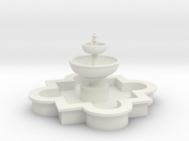 1:48 Miniature Arabesque Fountain  in White Natural Versatile Plastic