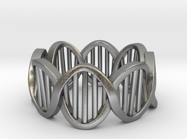 DNA Ring (Size 5) in Natural Silver