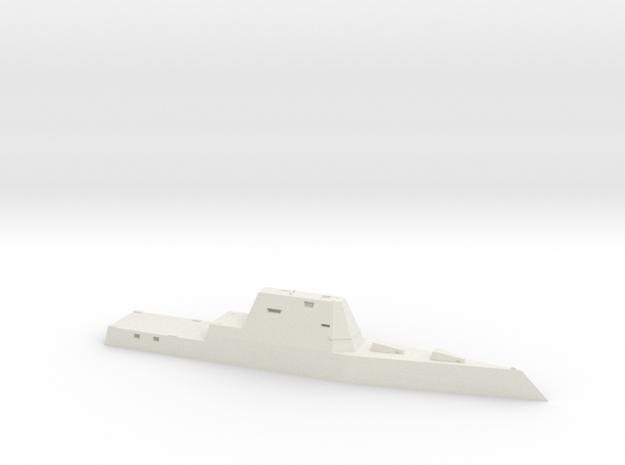 USS Zumwalt 1:1250 in White Natural Versatile Plastic: 1:1250