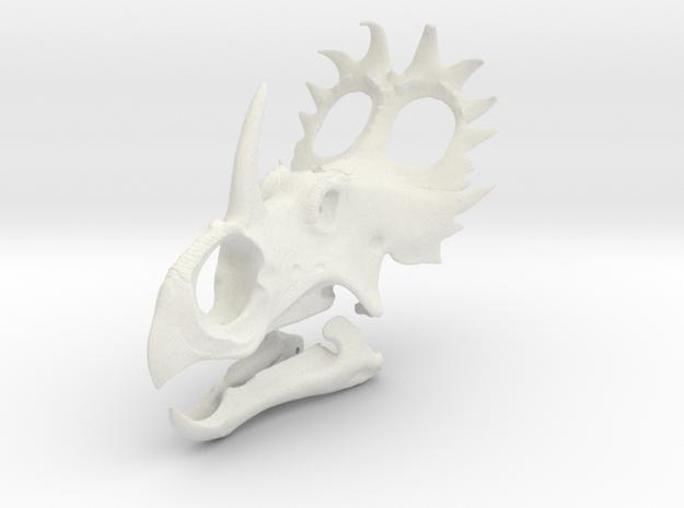 Sinoceratops Skull in White Natural Versatile Plastic