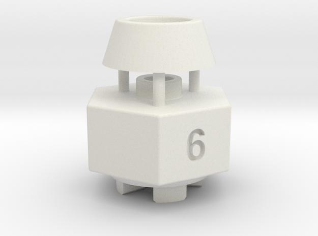 Schumacher Cat / Cougar wheel hex adaptor - 6mm in White Strong & Flexible