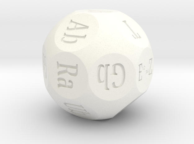 Roll-a-PLL d18 in White Processed Versatile Plastic