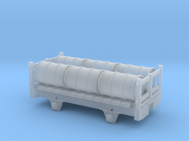 2 axle framed wagon with barrells in Smooth Fine Detail Plastic