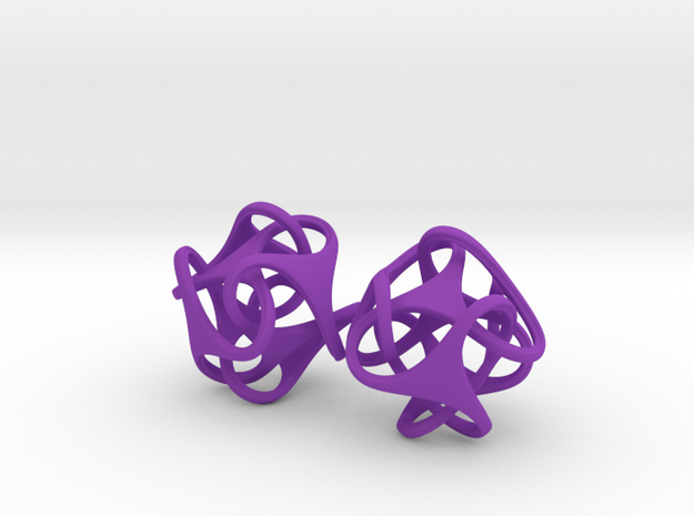 Tetron earrings 3d printed