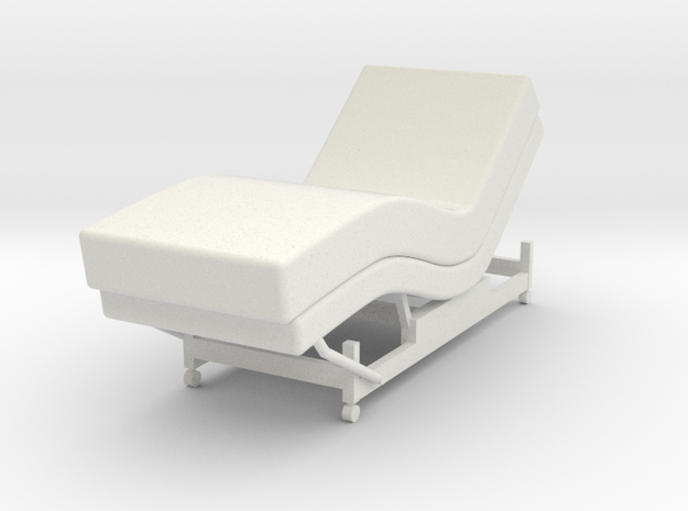 Medical Bed 1:18 in White Natural Versatile Plastic