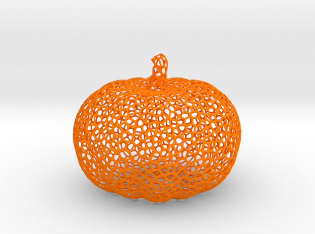 Voronoi Pumpkin #2 in Orange Processed Versatile Plastic