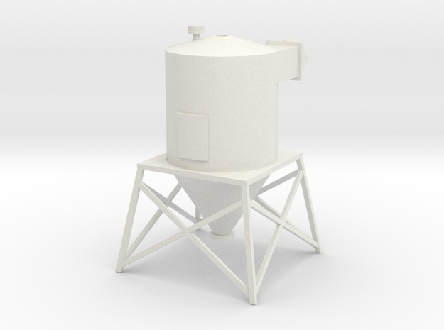 'O Scale' - Dust Filter - Roof Top in White Natural Versatile Plastic