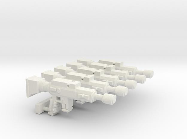 Lasgun SET in White Natural Versatile Plastic