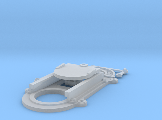 Circular Sluice Gate F Scale in Smooth Fine Detail Plastic