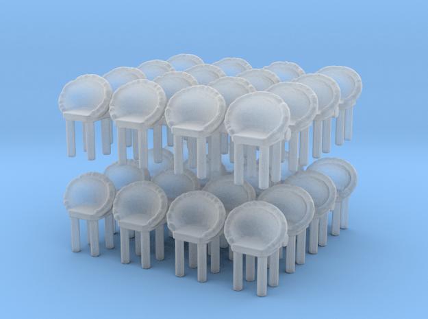Modern Bar Chair (x32) 1/120 in Smooth Fine Detail Plastic