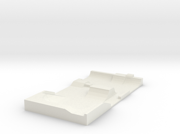 Skatepark 1/144 in White Natural Versatile Plastic
