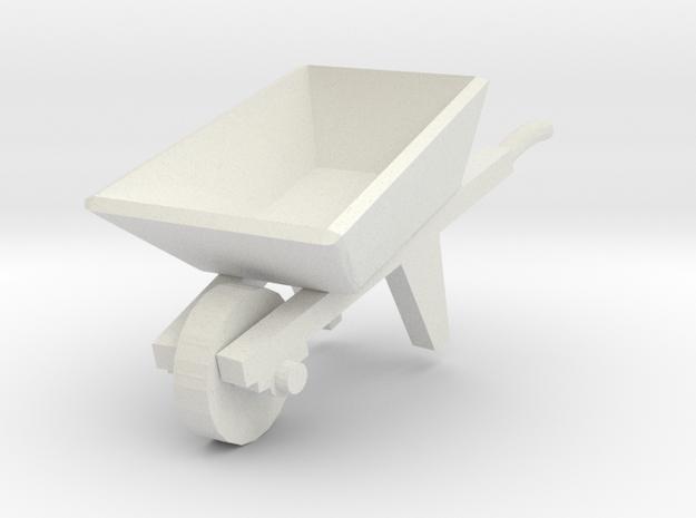 Wheelbarrow 1/35 in White Natural Versatile Plastic
