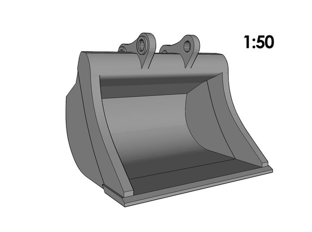 1:50 - Bucket XL for 20-25t excavators in Smooth Fine Detail Plastic