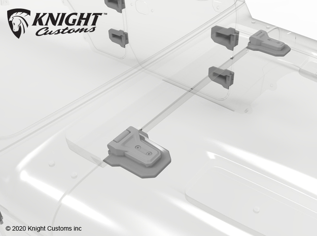 KCJL1001 JL Door Hinges in Gray PA12