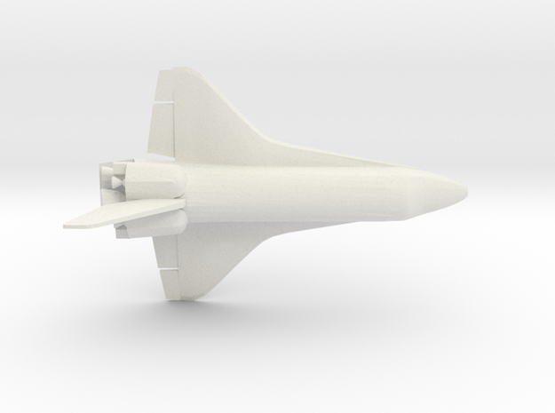 1/350 NASA Space Shuttle Orbiter (WSF) in White Natural Versatile Plastic