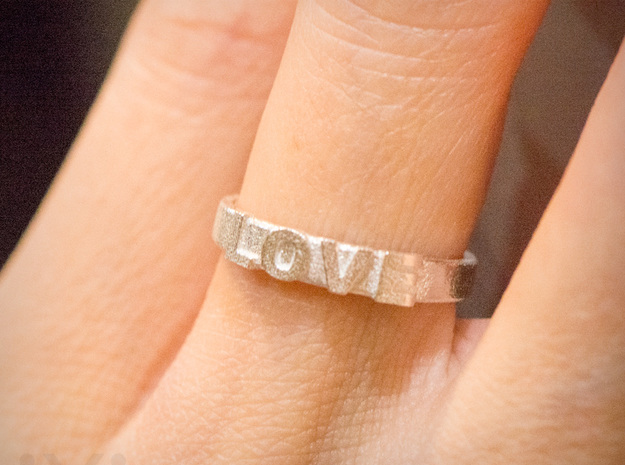 Love Ring - iXi Design - Size 4 in Natural Silver