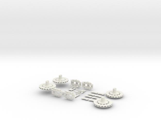 1/12 Centerlock Brakes in White Strong & Flexible