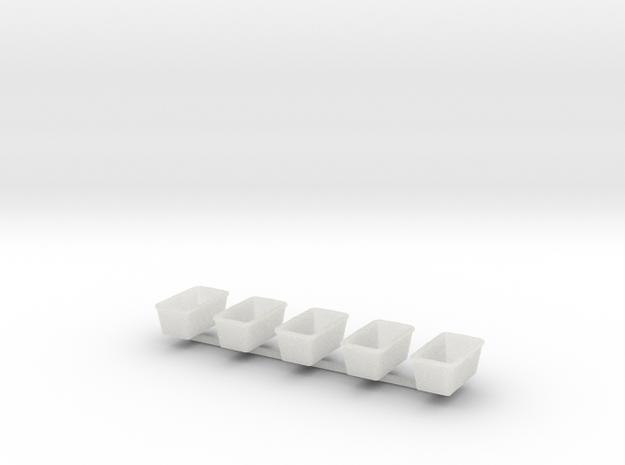 H0 1:87 Mörtelkübel 60l (5 Stk) in Smooth Fine Detail Plastic