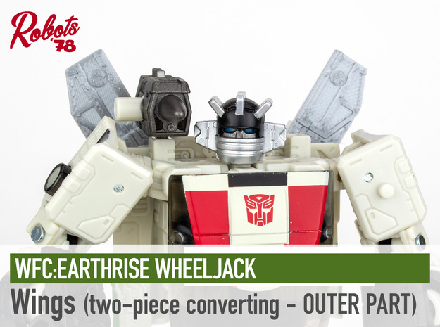 [Converting 2PC] ER Wheeljack Wings - Outer in Smooth Fine Detail Plastic