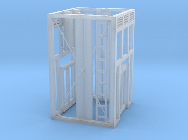 Aufzug Ein- Ausstieg offene Stahlkonstruktion beid in Smooth Fine Detail Plastic