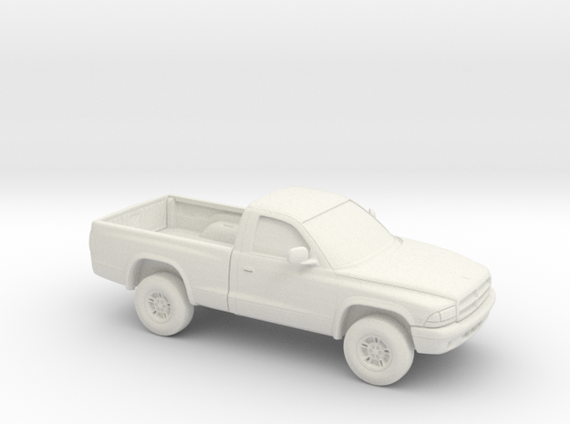 1/64 1997-04 Dodge Dakota Regular Cab in White Natural Versatile Plastic