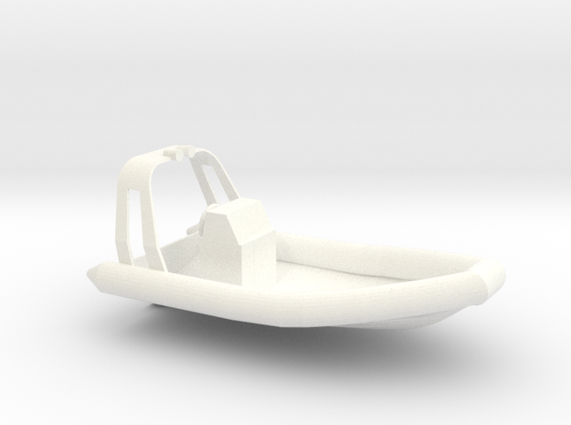 RHIB with beam (1:50) in White Processed Versatile Plastic