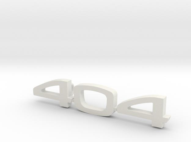 keychain peugeot 404 in White Natural Versatile Plastic