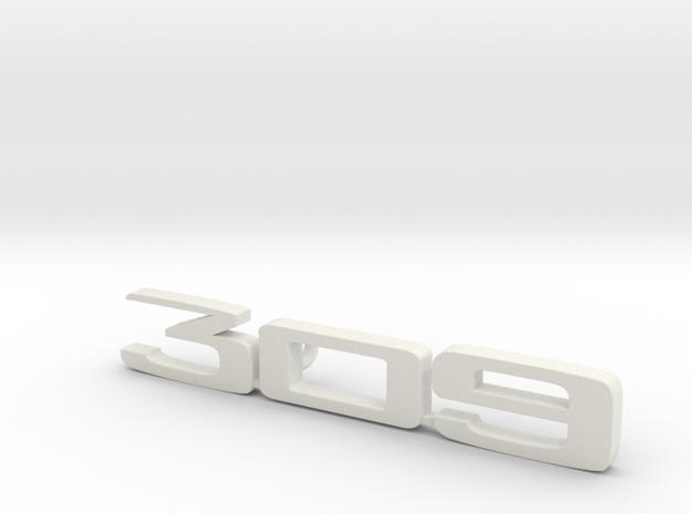 keychain peugeot 309 in White Natural Versatile Plastic