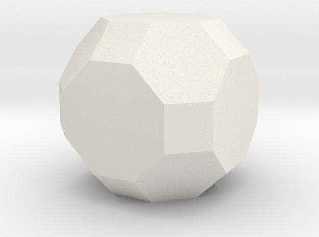 gmtrx solid lawal truncated cuboctahedron   in White Natural Versatile Plastic