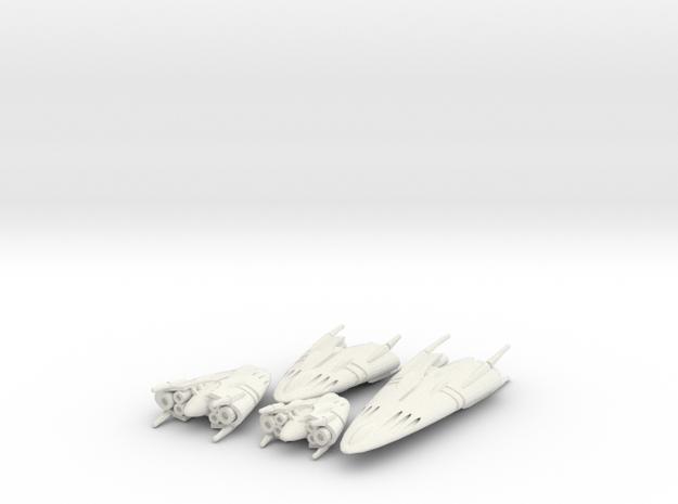 Slipstream B Legacy Set 1-2-3-4 in White Strong & Flexible