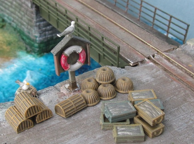 Quay Side Accessories pack 2 in Smooth Fine Detail Plastic