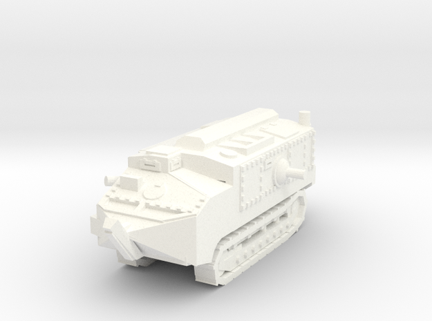 1/100 Schneider tank CA-1 in White Strong & Flexible Polished