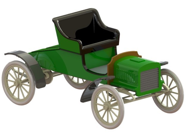 Ford Model C Runabout 1904 1/32 in Smooth Fine Detail Plastic